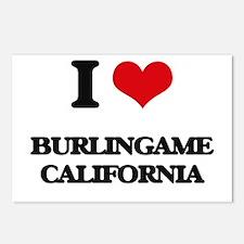 I love Burlingame Califor Postcards (Package of 8)