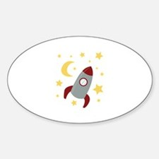 Rocket In Space Decal