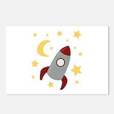 Rocket In Space Postcards (Package of 8)