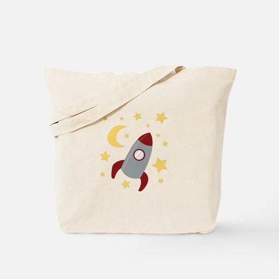 Rocket In Space Tote Bag