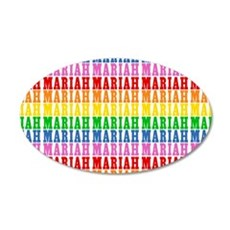 Rainbow Name Pattern 35x21 Oval Wall Decal