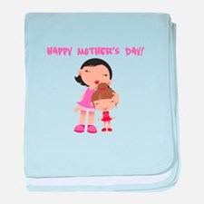 Happy Mothers Day baby blanket