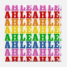 Rainbow Name Pattern Tile Coaster
