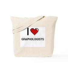 I love Graphologists Tote Bag
