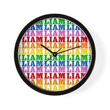 Rainbow Name Pattern Wall Clock