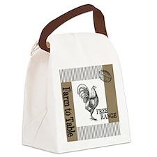 Modern Vintage Farmers Market Canvas Lunch Bag