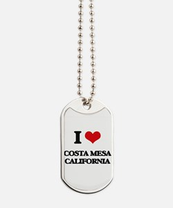 I love Costa Mesa California Dog Tags