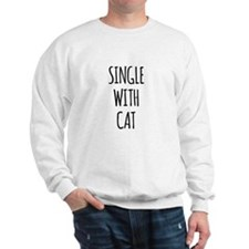 Single with cat Sweatshirt