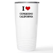 I love Cupertino Califo Travel Mug