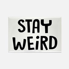 Stay Weird Rectangle Magnet