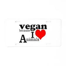 Vegan Aluminum License Plate