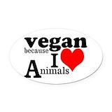Vegan Oval Car Magnets