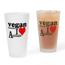 Vegan Drinking Glass
