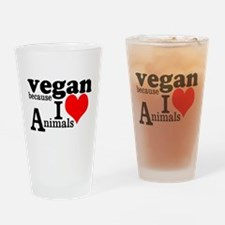 Vegan Drinking Glass