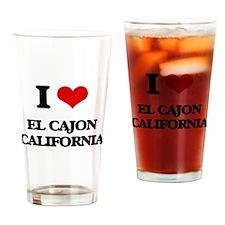 I love El Cajon California Drinking Glass