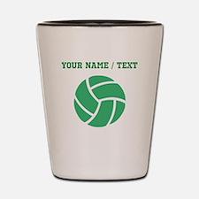 Green Volleyball (Custom) Shot Glass