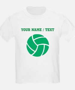 Green Volleyball (Custom) T-Shirt