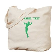 Green Volleyball Serve Silhouette (Custom) Tote Ba