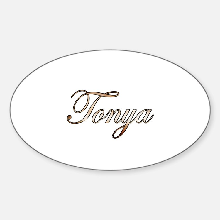 Gold Tonya Sticker (Oval)