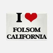 I love Folsom California Magnets