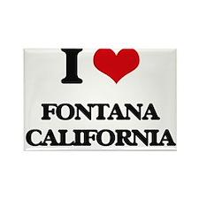 I love Fontana California Magnets