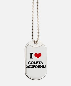 I love Goleta California Dog Tags
