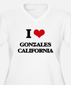 I love Gonzales California Plus Size T-Shirt