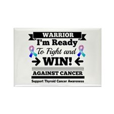 Thyroid Cancer Warrior Rectangle Magnet