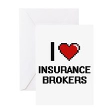 I love Insurance Brokers Greeting Cards