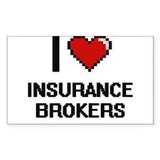 I love Insurance Brokers Decal