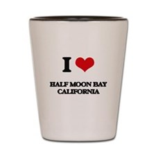 I love Half Moon Bay California Shot Glass