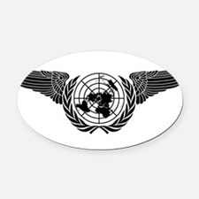 United Nations Forces Oval Car Magnet