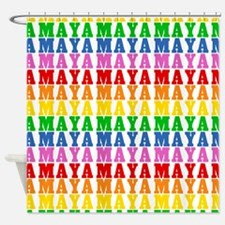 Rainbow Name Pattern Shower Curtain