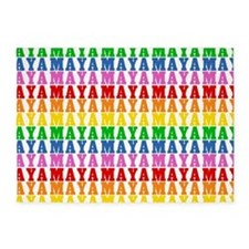 Rainbow Name Pattern 5'x7'Area Rug