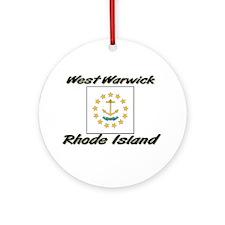 West Warwick Rhode Island Ornament (Round)