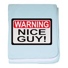 Warning Nice Guy baby blanket