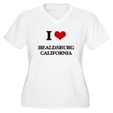 I love Healdsburg California Plus Size T-Shirt