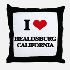 I love Healdsburg California Throw Pillow