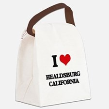 I love Healdsburg California Canvas Lunch Bag