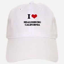 I love Healdsburg California Baseball Baseball Cap