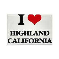 I love Highland California Magnets