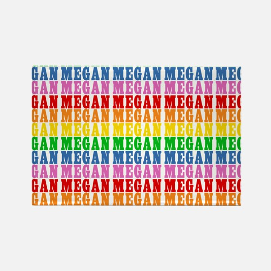 Rainbow Name Pattern Rectangle Magnet