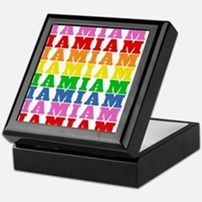 Rainbow Name Pattern Keepsake Box