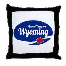 Epic Grand Targhee Ski Resort Wyoming Throw Pillow