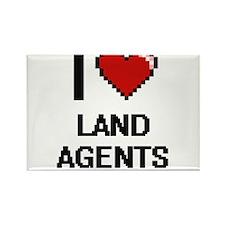I love Land Agents Magnets