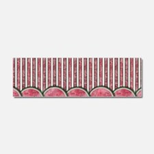 Watermelon Mania - row border st Car Magnet 10 x 3