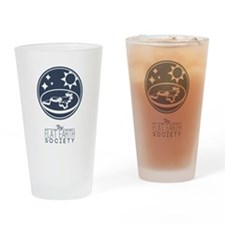 Flat Earth Society Drinking Glass