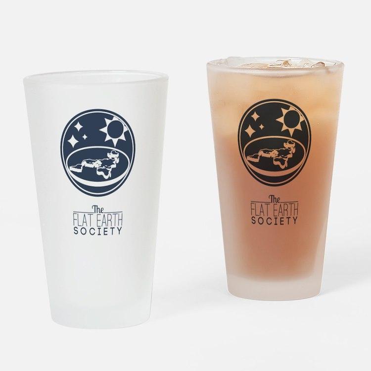 Flat Earth Society Drinking Glass