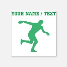 Green Discus Throw Silhouette (Custom) Sticker
