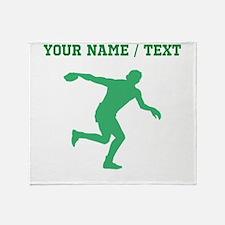Green Discus Throw Silhouette (Custom) Throw Blank